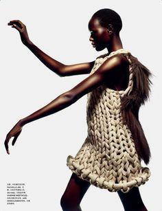 ajak deng for numero china nov 2012 #chunky #knit
