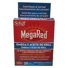 MegaRed Omega 3 Aceite de Krill 500 mg 20 Capsulas