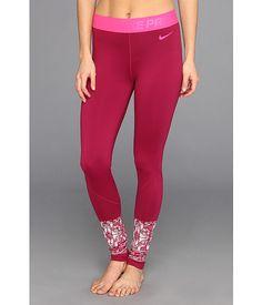 Nike Nike Pro Hyperwarm Mosaic Tight Raspberry Red/Pink Frost - Zappos.com Free Shipping BOTH Ways