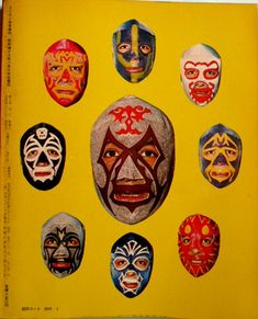 Iconic Mosaic of Mil Mascaras Images