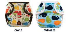 Weehugger Diaper Covers.  Love the easy sizing, durable snaps, cute prints and no need to fasten cloth diapers!