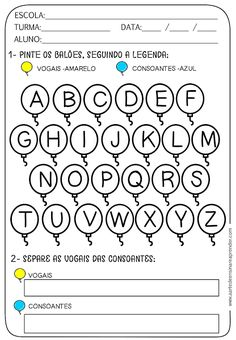 Atividade pronta - Vogais e Consoantes