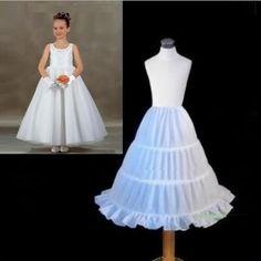 >> Click to Buy << White Ball Gown 3 Hoops Kids Petticoat Ruffles Children Petticoat 2017 Underskirt Crinoline Wedding accessories for Children #Affiliate