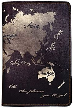 Adventure World Map Faux Leather Passport Holder - Leather Passport Cover - Travel Accessory- Travel Wallet for Women and Men_SCORPIOshop: Amazon.ca Passport Wallet, Passport Cover, Travel Accessories For Men, Adventure World, Lonely Planet, Travel Around The World, Wallets For Women, Traveling By Yourself, Tourism