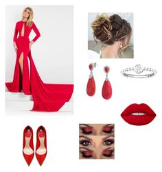 """""""Red Carpet Glam"""" by mhussain6 ❤ liked on Polyvore featuring Rachel Allan, Thomas Sabo and Bling Jewelry"""