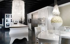 Unique Kitchens By Brummel Cucine, white country kitchen cabinets. Gorgeous, but not practical in my world.