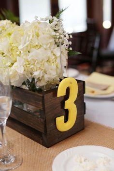 Awesome DIY table number idea!