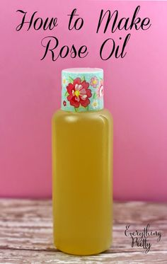 How to Make Rose Oil With Dried Rose Petals Learn how to make rose oil from real roses at home. Use your rose oil for DIY bath and beauty recipes. Homemade Beauty, Diy Beauty, Beauty Tips, Homemade Rose Water, Beauty Hacks, Homemade Facials, Essential Oil Blends, Essential Oils, How To Make Rose