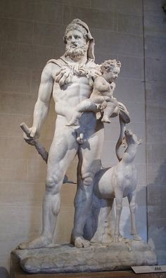 Hercules and Telephus. 1st.-2nd.century. Roman copy of a Greek original.