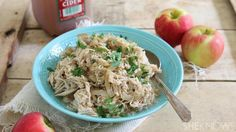 Learn how to make slow cooker apple cider pulled chicken, and then recreate in leftovers
