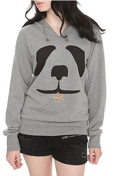 Comfy panda hoodie.  This would be cute for family letters!