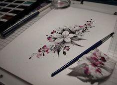 Tomorrow!! :)) #flower #flowertattoo #tattoo #tattoodesign #drawing #watercolorpainting #watercolor #watercolortat #drawing #inkdrawing #turkutattoo #soulskintattoo