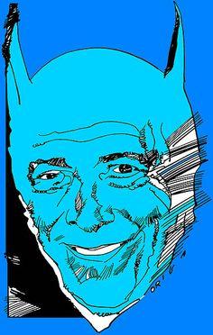 Caricatura de Bob Kane, autor legal de Batman, quien rechazó a Finger como el cocreador del personaje al considerarlo como un simple escritor fantasma (vía Wikipedia)