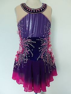 NEW ICE SKATING TWIRLING BATON DRESS CHILD L