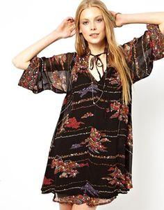 ASOS Swing Dress In Boho Print, perfect for fall