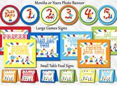 Carnival Birthday Party Signs Circus Birthday Party Signs 96 Small Table Signs Food Signs (DIY digital version PDF file). $1.99, via Etsy.