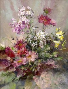 The artist Vjugovey Rimma Nikolaevna, a member of the Artists Union of Russia and International Federation of Artists. Art Floral, Paintings I Love, Beautiful Paintings, Flower Oil, Art Oil, Still Life, Beautiful Flowers, Art Photography, Art Gallery