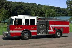 The background of the Tonganoxie Fire Truck is the Shawnee Mission Park Lake in Shawnee Kansas. This is another composite photo and the Fire Truck was photographed at a recent car show in Tonganoxie, Kansas.