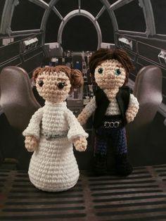 Han Solo and Princess Leia amigurumi  Moñacos, cosicas y meriendacenas