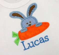 Custom Personalized Embroidered Easter Applique by Blumers Embroidery