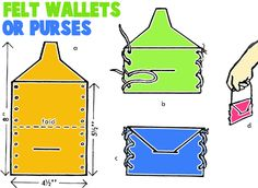 Make Felt Wallets or Purses for widow and the 2 mites story craft