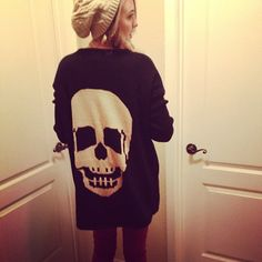 LOVE the combo with the beanie. I'm obsessed with skulls and beanies. Great for cold night outings.