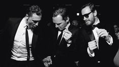 WHY  WAS HIDDLESTON EVER CROPPED OUT OF THIS PICTURE?   Loki, Khan, and Magneto dance the night away at the villain's ball.