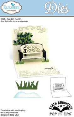 In stock 2/9/14 NEW!!  Elizabeth Craft Designs  Garden Bench Pop Up Die