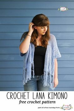 Crochet this easy Lana kimono cardigan sweater from Sewrella from my crochet projects to make for craft fairs free pattern roundup! - Love it!