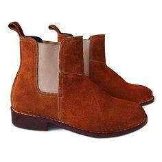 Men Chelsea Boots Rust Brown Shoes