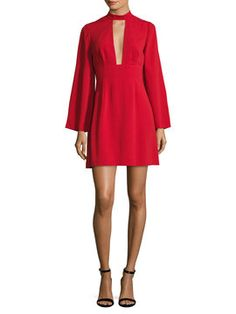 Mockneck Flared Dress  from Milan-Inspired Street Style on Gilt