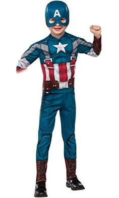 Rubies Marvel Comics Collection: Captain America: The Winter Soldier Deluxe Retro Suit Captain America Costume, Child Large Captain America Winter, Marvel Captain America, Retro Halloween, Halloween Costumes, Halloween Ideas, Superman, Zombie Couple Costume, America Muscle, Power Ranger Party