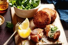 These smoked trout fish cakes can be presented as part of a starter platter or served with vegetables as a stand alone meal.