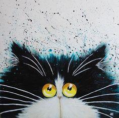 'Otis' Graphic Art Print on Wrapped Canvas East Urban Home Size: 66 cm H x 66 cm W x cm D Cat Painting, Animal Art, Cat Art, Painting, Art, Graphic Art Print, Animal Paintings, Canvas Art, Cat Drawing