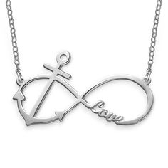 Personalized Infinity Anchor Necklace | MyNameNecklace