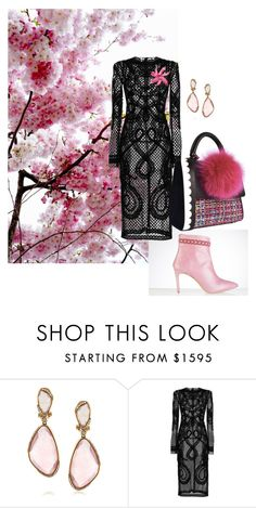 pink and black by yaninna-diaz on Polyvore featuring moda, Dolce&Gabbana, Mark Broumand, CÉLINE and Les Petits Joueurs