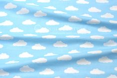Sweet and trendy print, not only for kids. Good quality 100% cotton printed in adorable white clouds on clear blue sky. We recommend this fabric mainly for bed linens and blankets - anyone would...