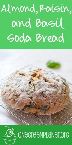 Almond, Raisin, and Basil Soda Bread [Vegan]