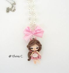 Totoro girl necklace by elvira-creations
