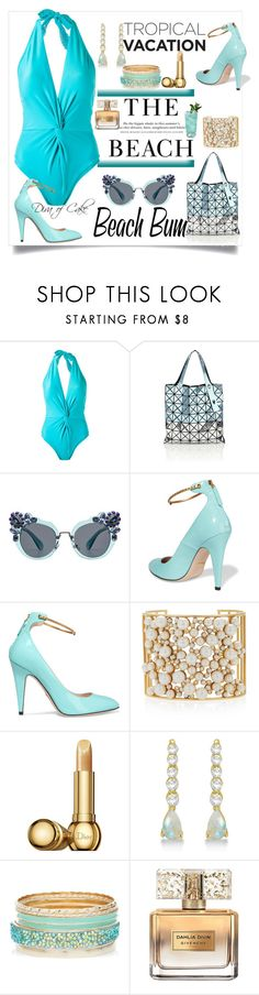 """""""Untitled #280"""" by kercey ❤ liked on Polyvore featuring Martha Medeiros, H&M, Bao Bao by Issey Miyake, Miu Miu, Gucci, Nancy Newberg, Christian Dior, Allurez and Givenchy"""