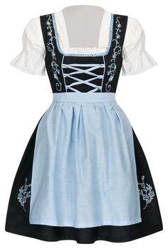 Dirndl Set 3 tlg.Trachtenkleid Kleid, Bluse, Schürze, Gr. 34-52 Neu OVP SchBlau Mode Online, Skater Skirt, Tops, Skirts, Dresses, Fashion, Vestidos, Oktoberfest, Blouse
