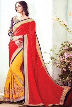 Online saree shopping India at ​sarees palace. cho​ose from a huge collecti​on of designer, ethnic, ca​sual sari, buy sarees online India for all occasions. Indian Wedding Sari, Saree Wedding, Bridal Sarees, Wedding Wear, Indian Bridal, Lehenga Style Saree, Red Saree, Online Shopping Sarees, Saree Shopping