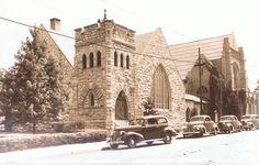 Webster Groves Presbyterian Church, 45 W. Lockwood in Old Webster, looking NE