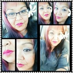 """Lipstick """"Flat Out Fabulous"""" and """"Magenta"""" Lip liner."""
