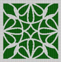 MOSS+GREEN+MOSAIC+TAPESTRY+STYLE+CROCHET+AFGHAN+PATTERN+GRAPH