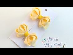 Ribbon Hair Bows, Bow Hair Clips, How To Make Ribbon, Head Pins, Paper Flowers, Diy And Crafts, Place Card Holders, Scrapbook, Make It Yourself