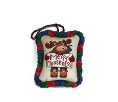 Cross Stitch Pattern Christmas Ornament Merry by Moosemom on Etsy