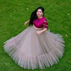 Dresses - Best Bridal Lehenga designs this wedding season! Lehenga Choli Designs, Long Gown Dress, Lehnga Dress, Indian Wedding Outfits, Indian Outfits, Indian Weddings, Indian Designer Outfits, Designer Dresses, Half Saree Designs