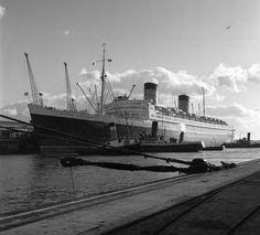 Queen Elizabeth Southampton Docks, 1951.
