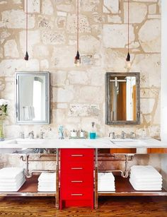 Make a point at night to clear off countertops and put away every product that was used to get ready in the morning.